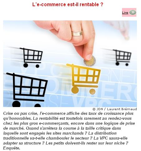 Le commerce est il rentable Journal du Net e Business 1269439699591 - Très bon article de Flore Fauconnier sur la rentabilité du E-commerce
