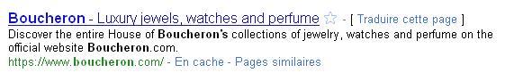 boucheron Recherche Google 1274282846483 - Le luxe, le flash et l'E-commerce sont dans un bateau