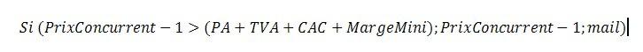 equation prix mini - La gestion des prix dans les CMS E-commerce