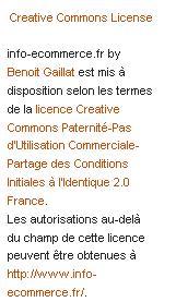 Toute linfo du Ecommerce sur Info Ecommerce.fr 1276183231816 - Passage en créative Commons 2.0 France