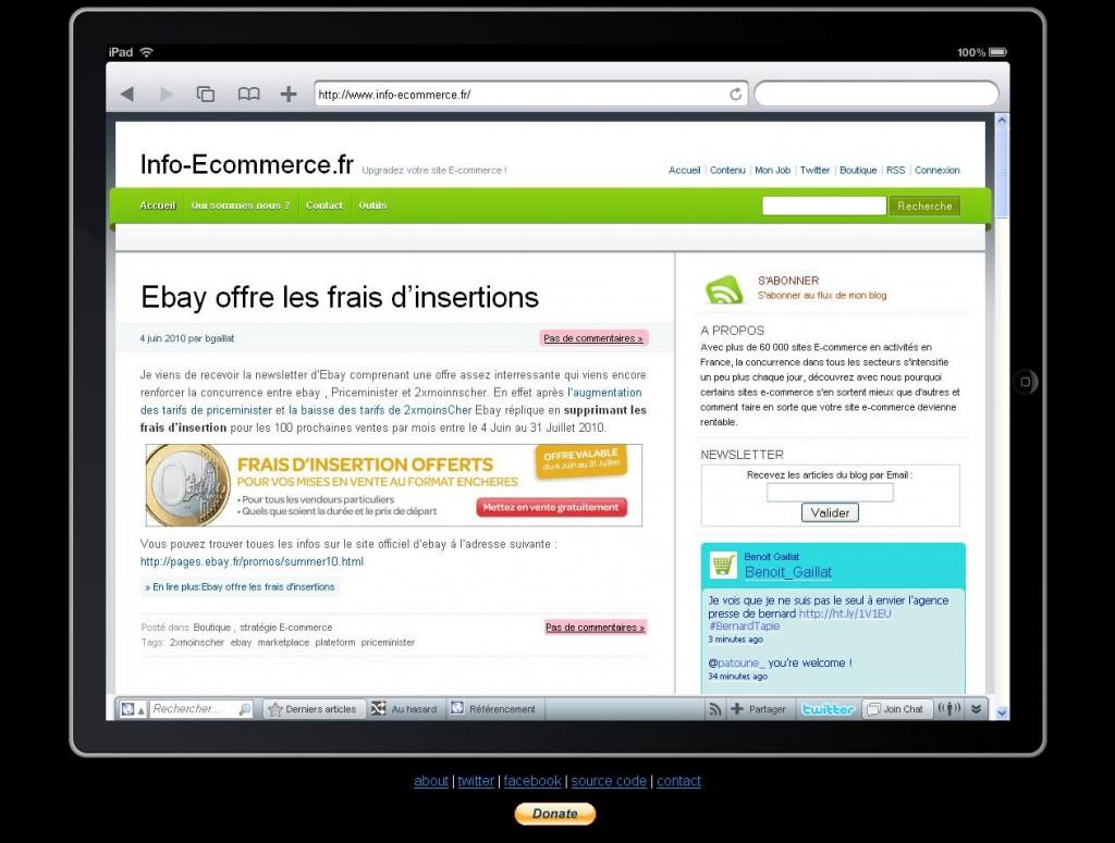 info ecommerce ipad 1024x775 - Votre site E-commerce est il Ipad Compatible ?