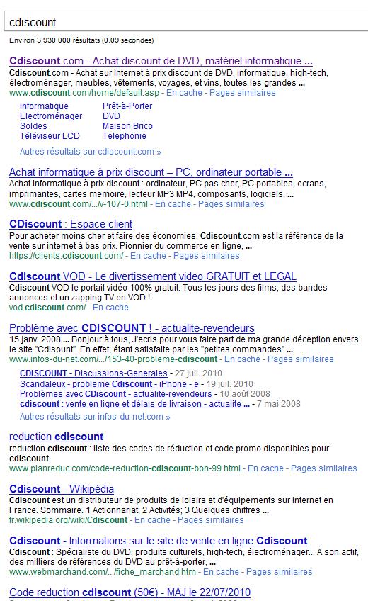 resultats google cdiscount com - Comment truster les résultats de Google sur une requête ?