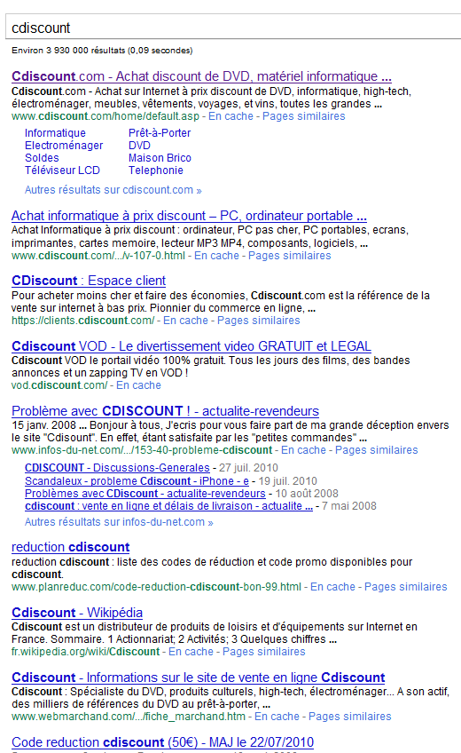resultats-google-cdiscount-com