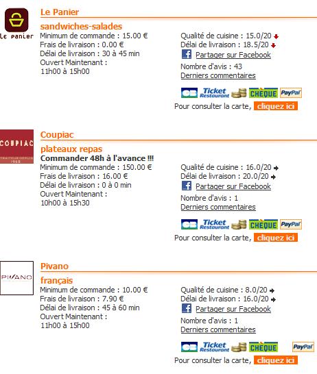 resultats de recherche - Mon avis sur Alloresto.fr