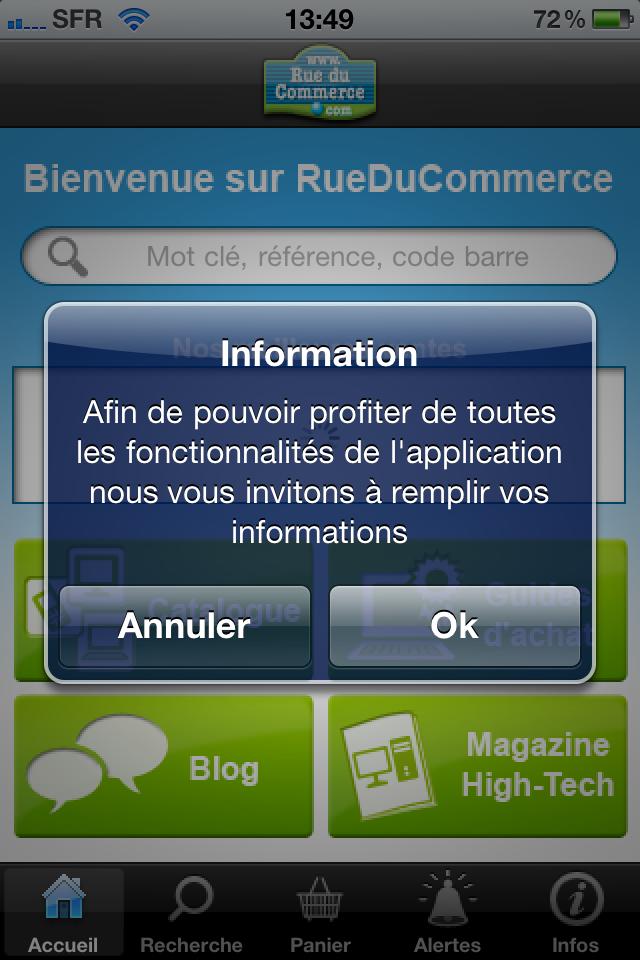 iphone 006 - Test de l'application Iphone Rueducommerce