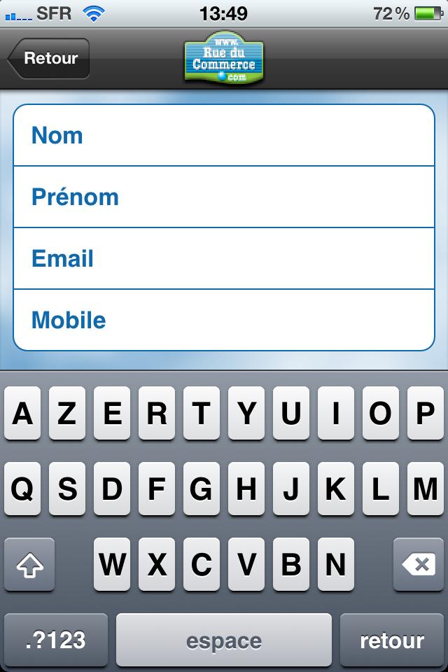 iphone 007 - Test de l'application Iphone Rueducommerce
