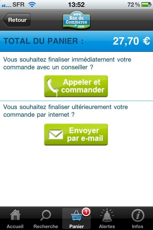 iphone 019 - Test de l'application Iphone Rueducommerce