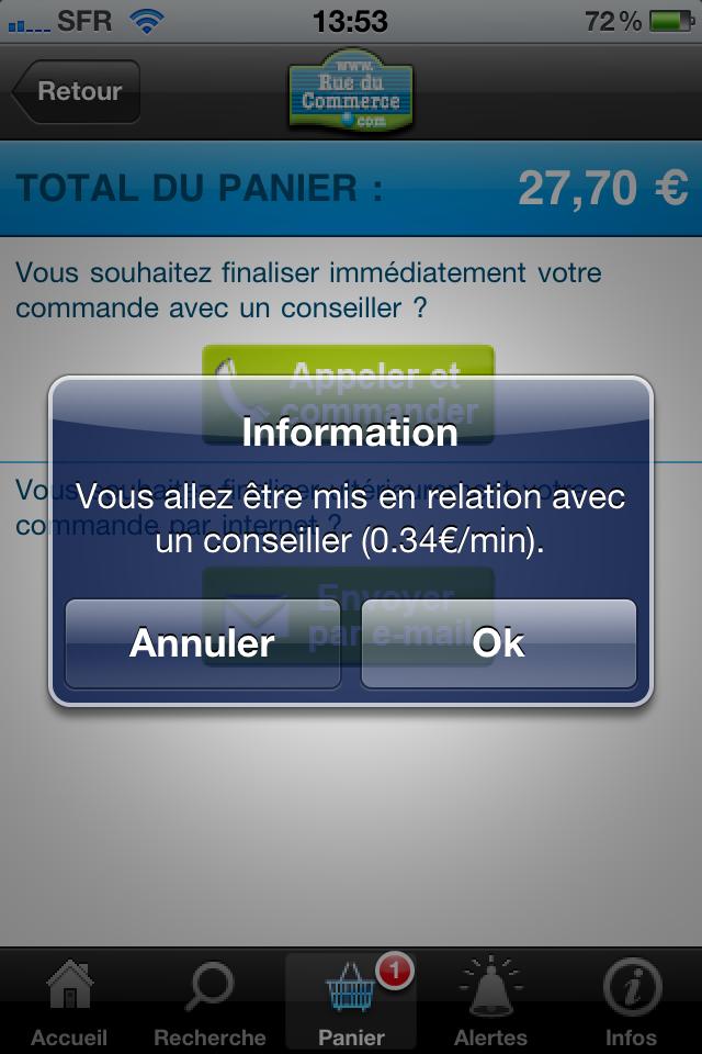 iphone 021 - Test de l'application Iphone Rueducommerce
