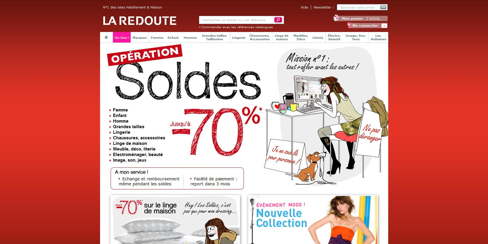 homepage-la-redoute-soldes