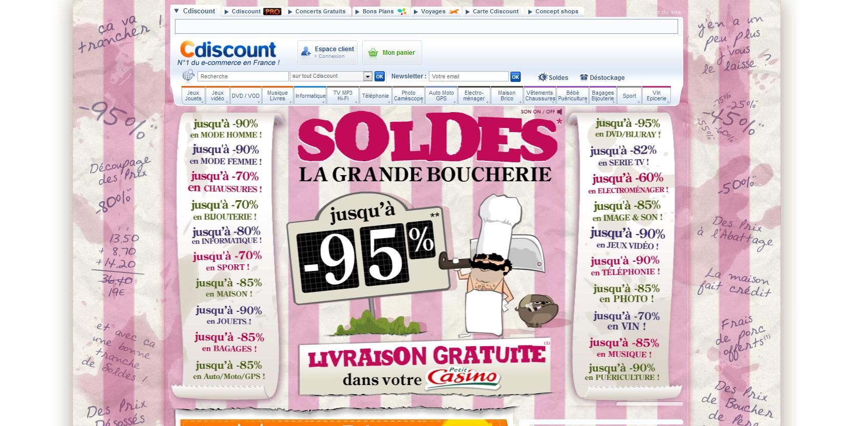 homepage-soldes-cdiscount