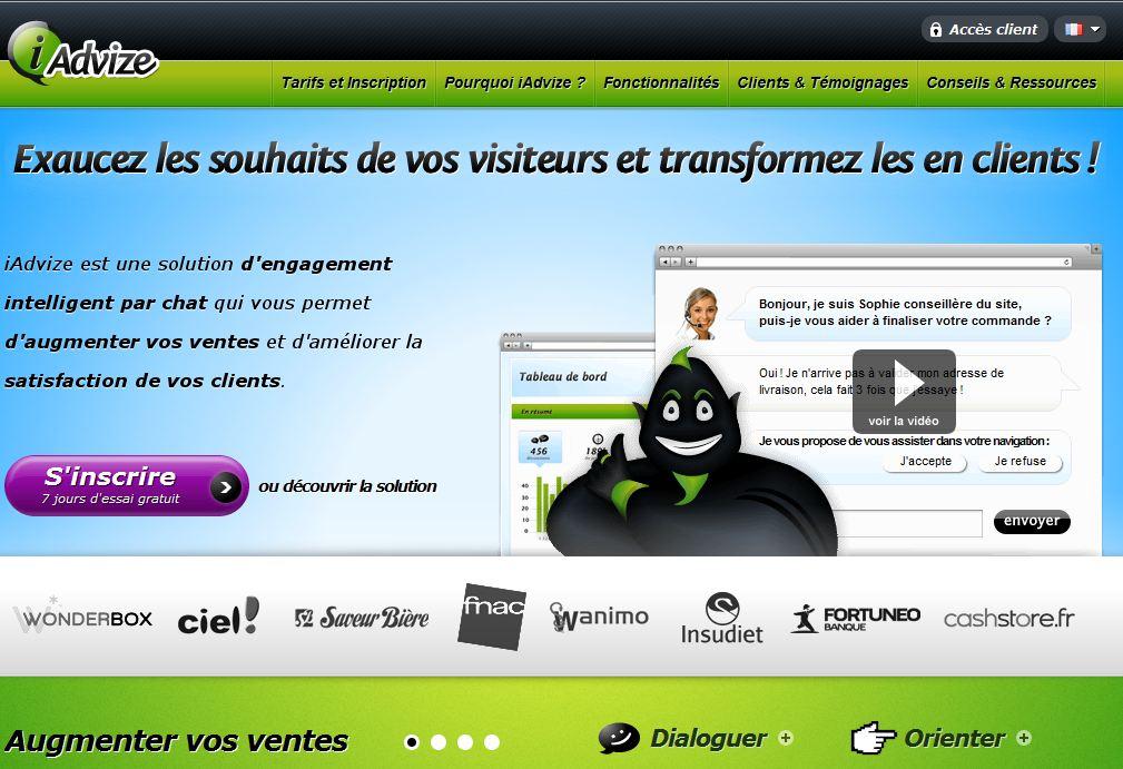 iAdvize homepage - iAdvize, ou comment créer un service client par tchat en quelques minutes
