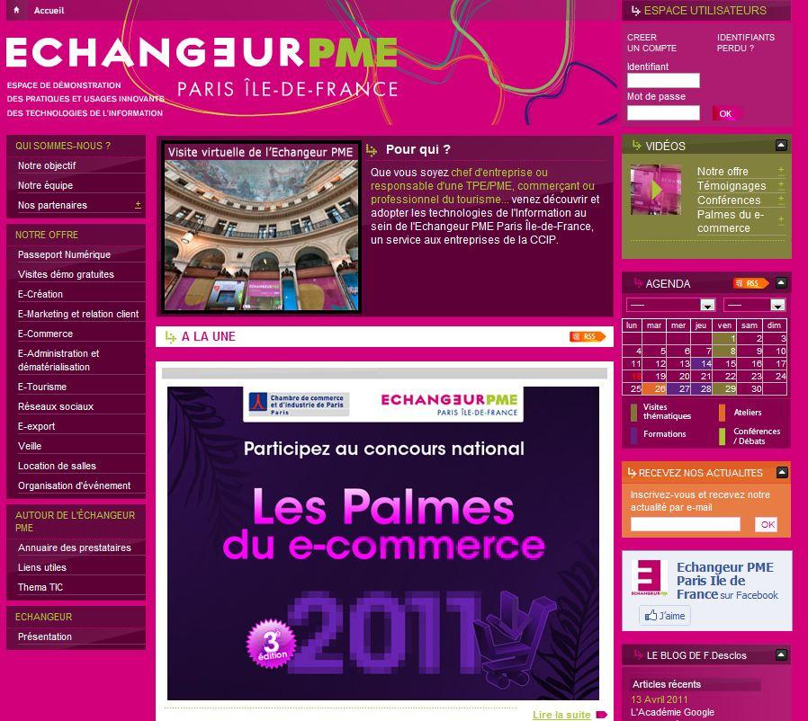 echangeur pme palmes e commerce - Palmes du E-commerce 2011 [ Concours national ]