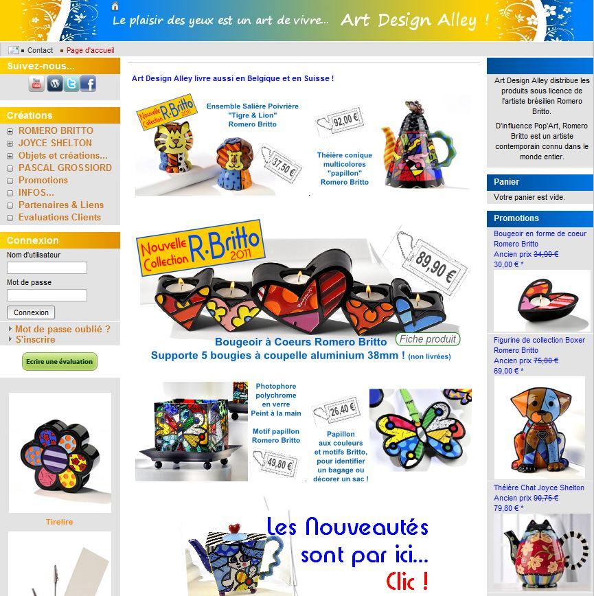 homepage artdesignalley - 7 boutiques tournant sur Box E-commerce de la Poste