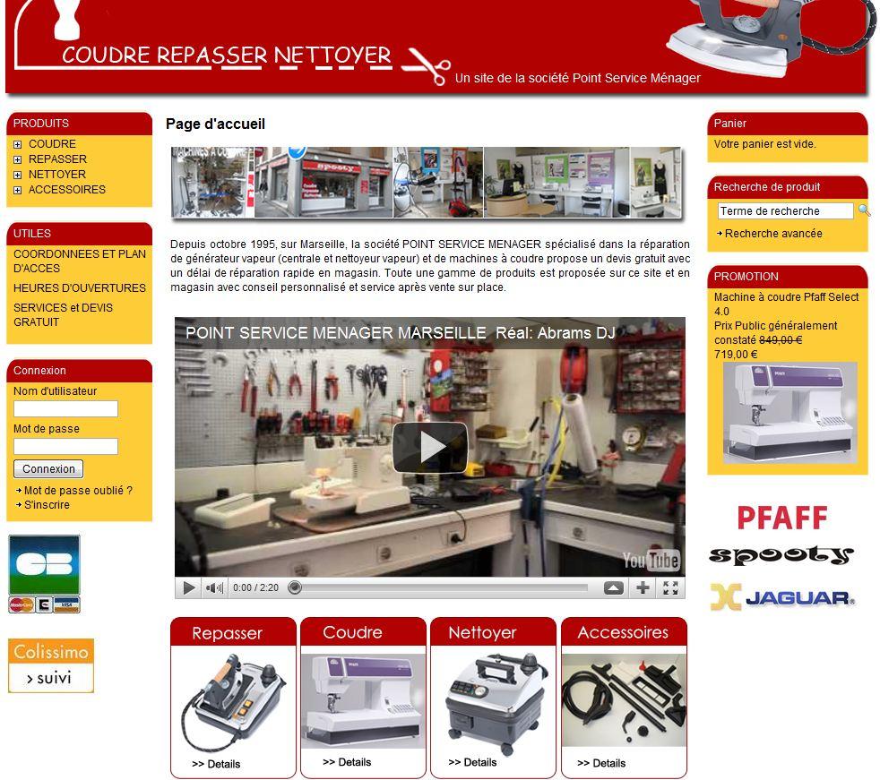homepage coudre repasser nettoyer - 7 boutiques tournant sur Box E-commerce de la Poste