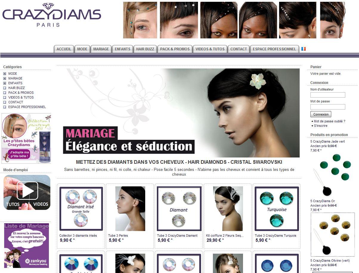 homepage crazy diamants - 7 boutiques tournant sur Box E-commerce de la Poste