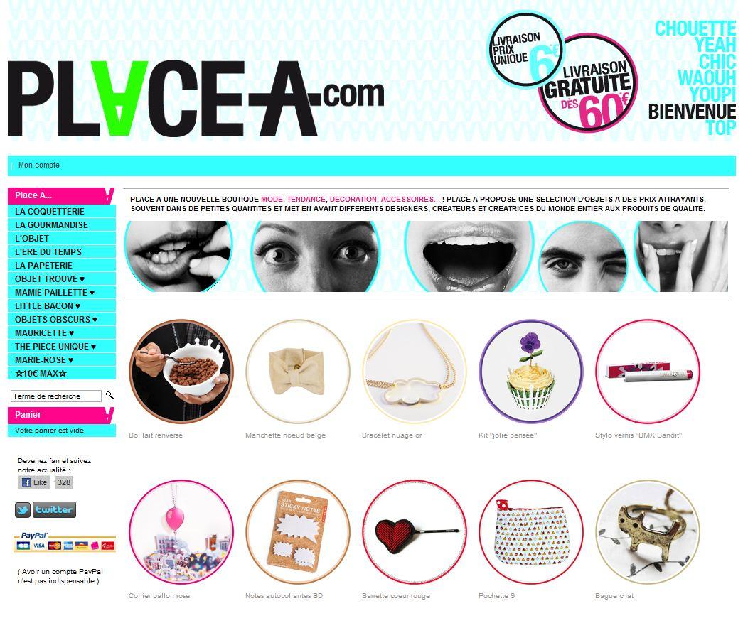 homepage place a - 7 boutiques tournant sur Box E-commerce de la Poste