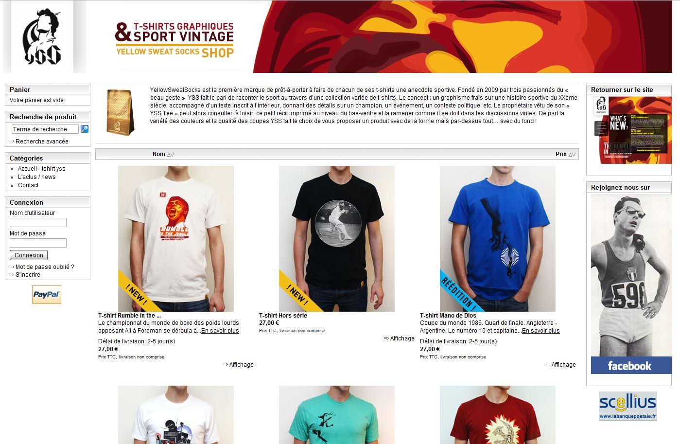 homepage yellowsweatsocks - 7 boutiques tournant sur Box E-commerce de la Poste