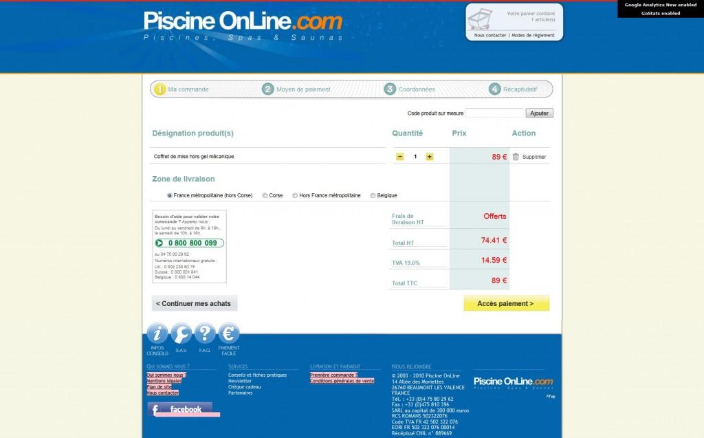 Piscine OnLine Votre sélection 1309243249860 1024x637 - 6 exemples de page panier