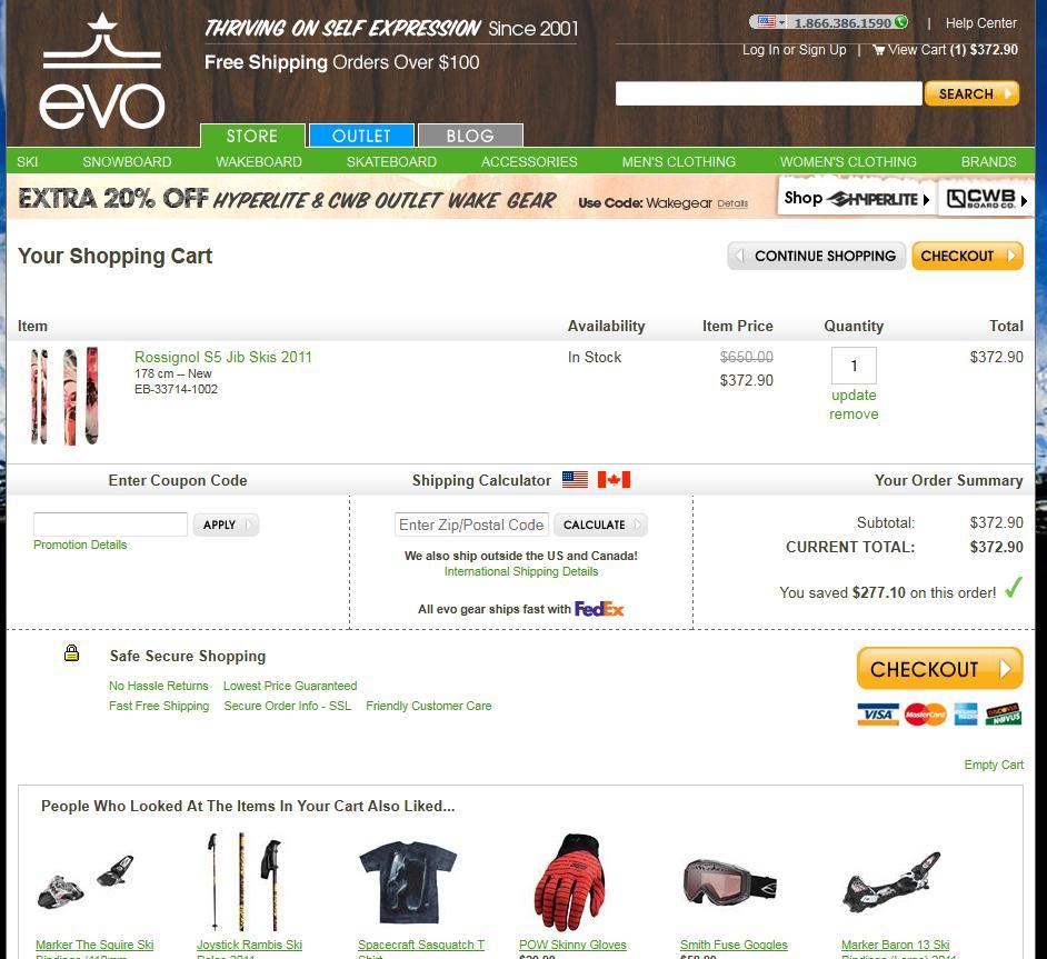 Shopping Cart evo 1308164532937 - 6 exemples de page panier