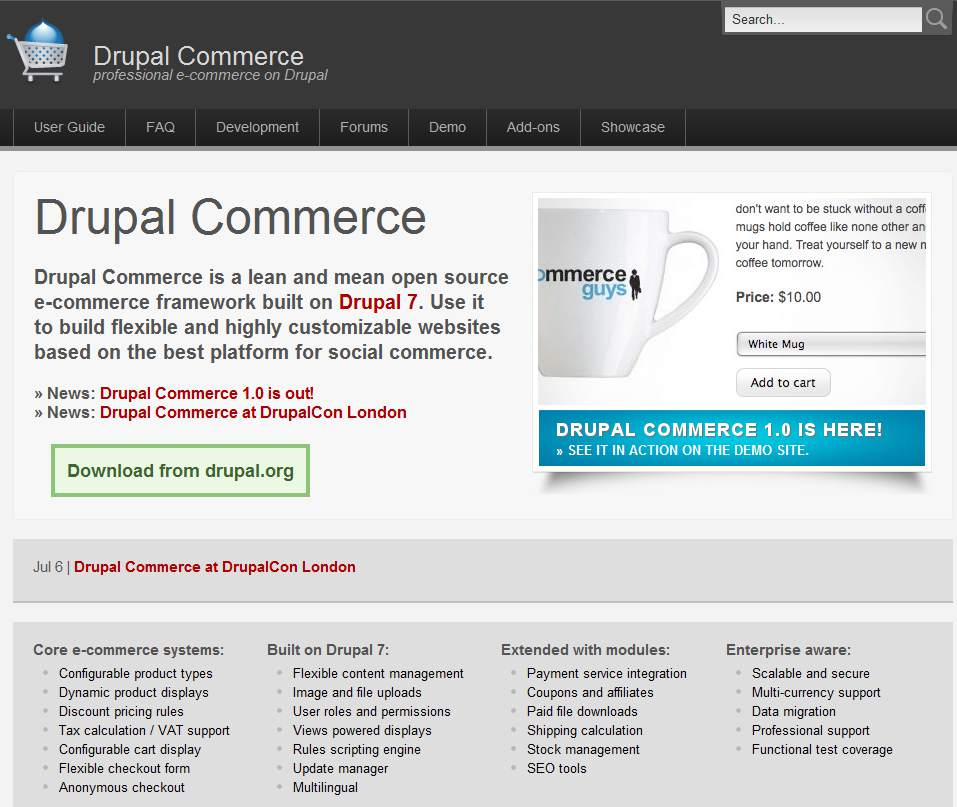 Drupal Commerce   professional e commerce on Drupal