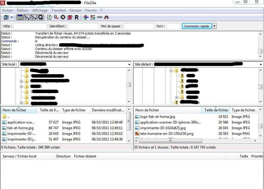 filezila - Configurer Filezilla en SFTP
