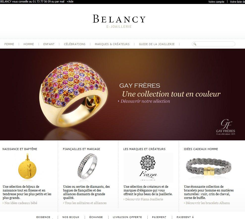 Joaillerie Belancy  bijoux or et diamants – idées cadeaux femme  homme  bébé   BELANCY
