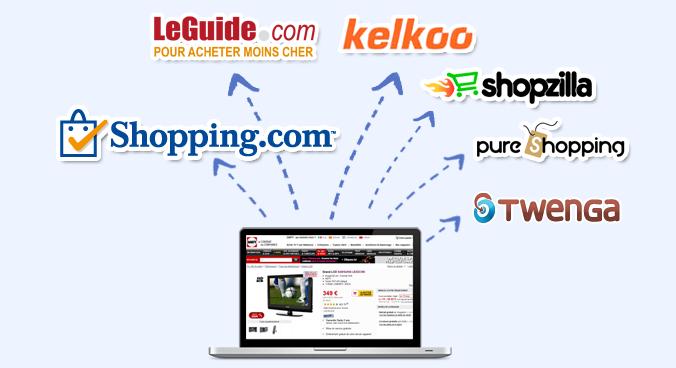 Comparateurs de prix Référencez votre catalogue produits sur les comparateurs de prix - Exporter ses flux produits