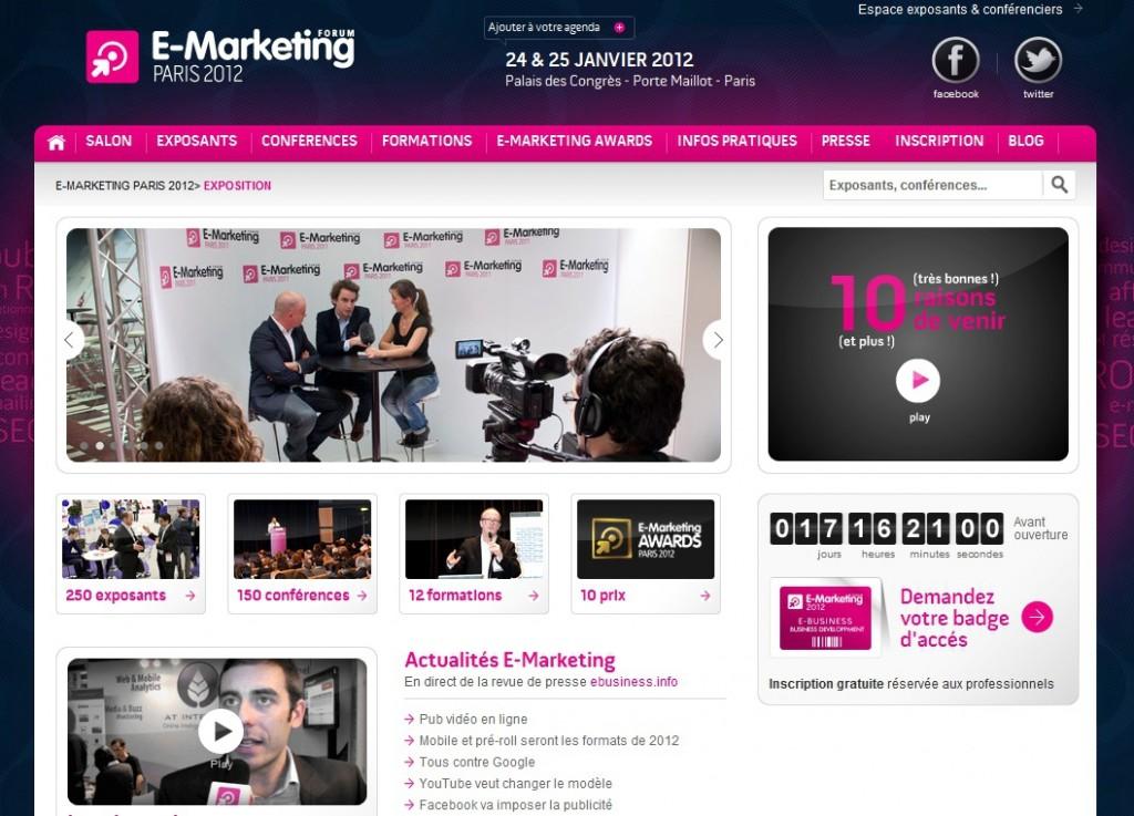salon emarketing 2012 1024x737 - Salon E-Marketing Paris 2012 le 24 et 25 janvier