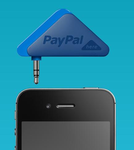 """paypal lecteur de carte americaines - Paypal lance """"Paypal here"""", le paiement CB sur mobile"""
