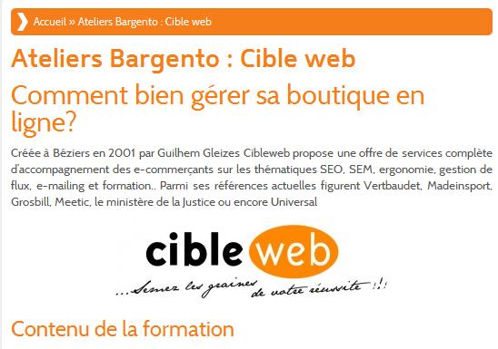 Ateliers Bargento   Cible web   Bargento  le salon dédié à Magento   tout savoir sur Magento et bien plus