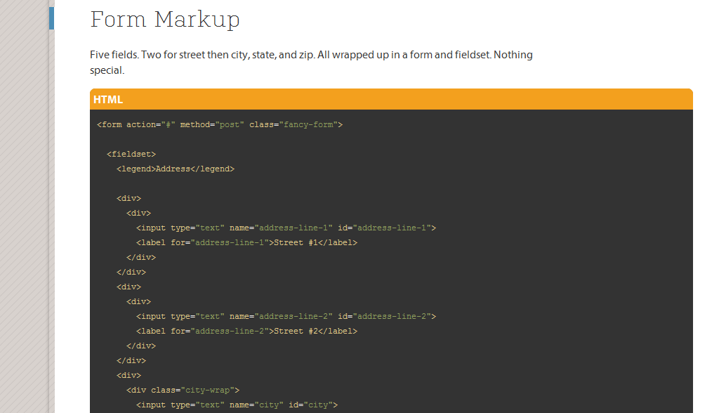 Autofill City   State from Zip Code with Ziptastic   CSS Tricks
