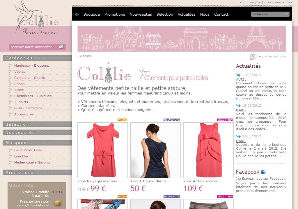 Boutique en ligne Colilie Colilie Vêtements petites tailles. Boutique en ligne Colilie - Coup de projecteur sur Colilie