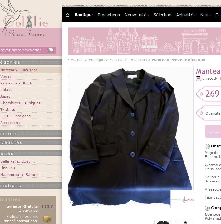 Manteau Prevear Bleu nuit Colilie Vêtements petites tailles. Manteau Prevear Bleu nuit - Coup de projecteur sur Colilie