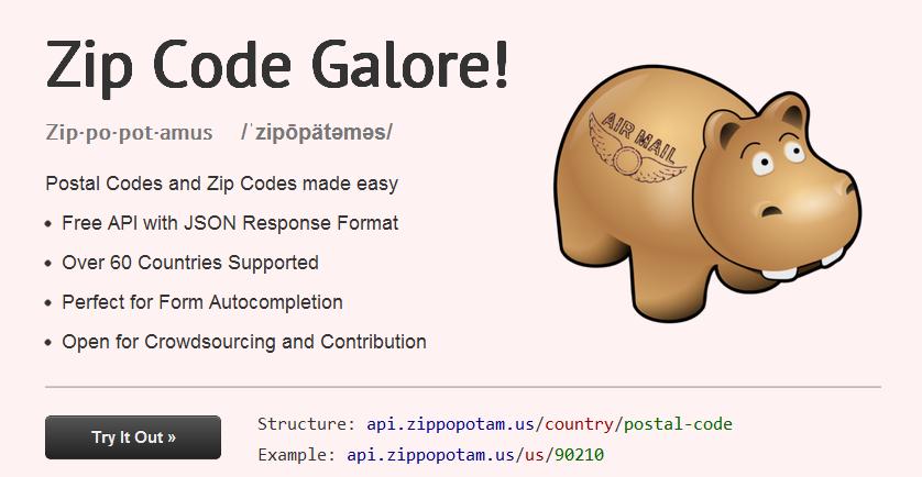 Zippopotamus  Zip Code Galore