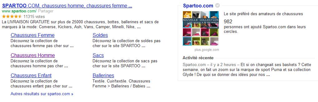 spartoo - Afficher votre logo et vos news lorsqu'on cherche votre marque sur Google