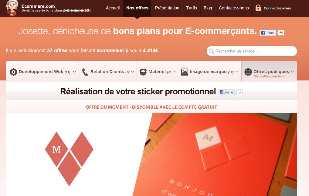 Ecommere.com bons plans pour professionnels. - Interview de Guillaume Rocheteau, cofondateur de Ecommere.com