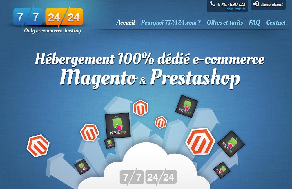 772424.com E Commerce Hosting 100  Prestashop   Magento