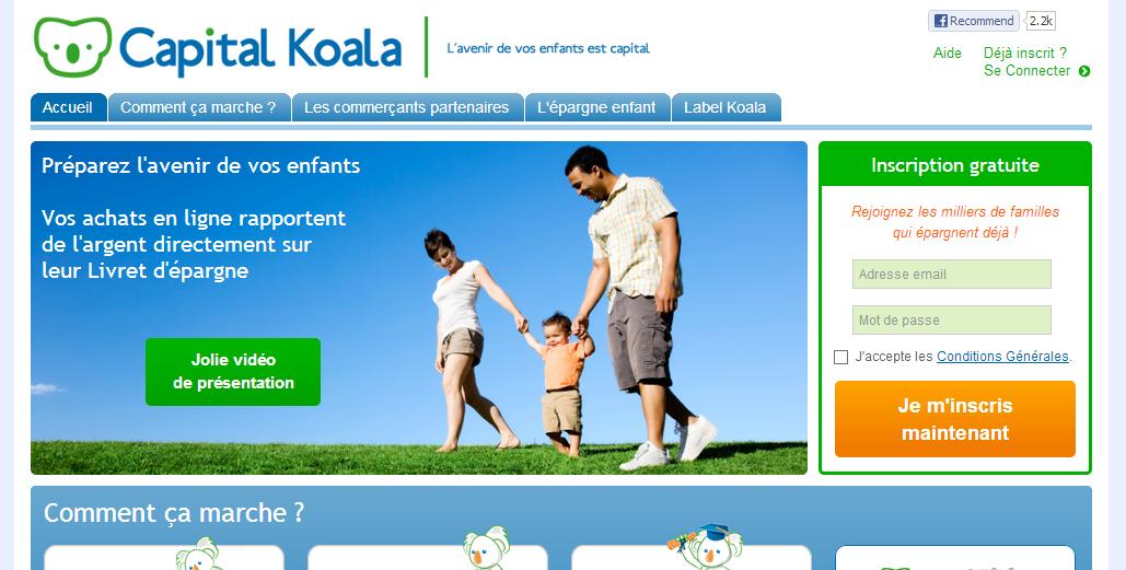 Capital Koala Épargnez pour vos enfants à chacun de vos achats en ligne - 1ere édition des IMC Awards