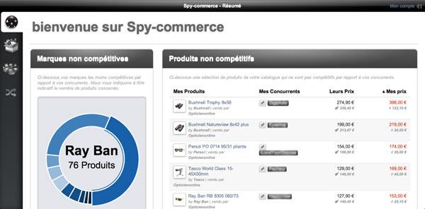 spy commerce 1 - Spy Commerce : surveiller les prix de vos concurrents