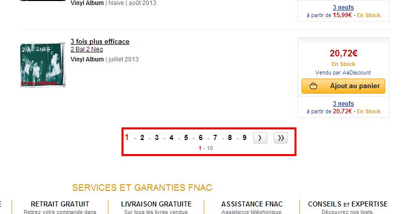 pagination fnac - Et si on supprimait la pagination sur les sites e-commerce ?