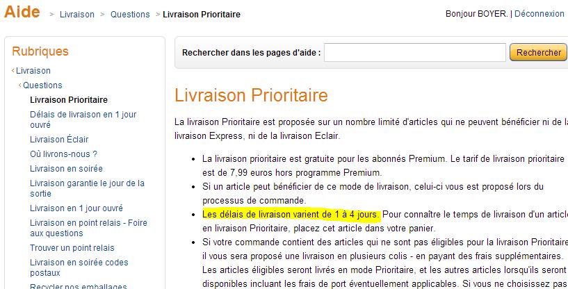 amazon livraison prioritaire - Entre la promesse et les CGV - l'exemple déceptif d'Amazon sur les délais de livraison Premium