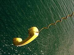 téléphone à la mer