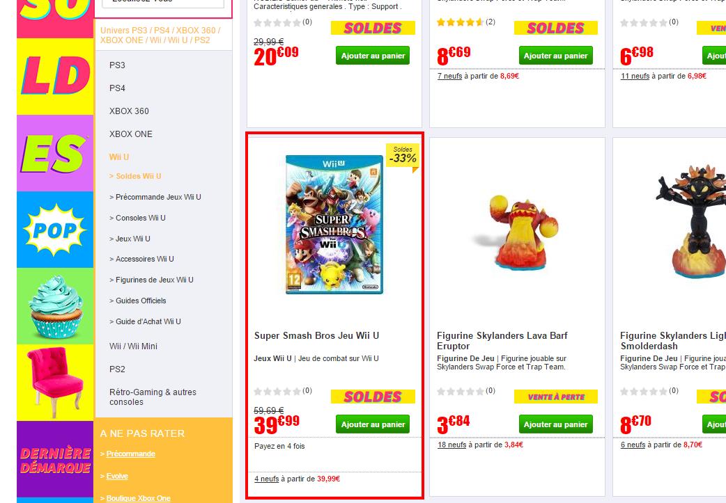 Soldes Wii U Wii U Achat Accueil Jeux vidéo Soldes Cdiscount
