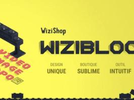 Wizishop permet de créer une boutique e-commerce tout en glissé / déposé !
